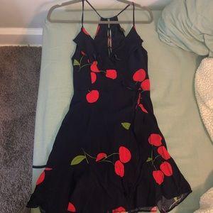 Navy blue Cherry dress forever 21